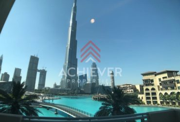 Unique and spacious  2 BR with Burj view